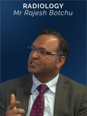 Online CPD broadcast speaker discussing Radiology with Rajesh Botchu
